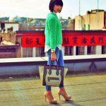 Acne green sweater