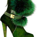 Fun equestrian fur high heel booties