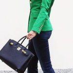 Green business blazer