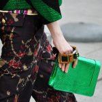 Green metalic clutch