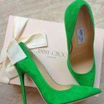 Jimmy Choo green high heels