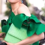 The Zoe Report - green off-shoulder with bows