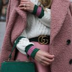 gucci pink wool winter coat