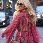 hot pink flowy chiffon jumpsuit