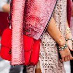 hot pink snake skin leather jacket