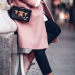 long pink coat fashion trend with pink sneakers