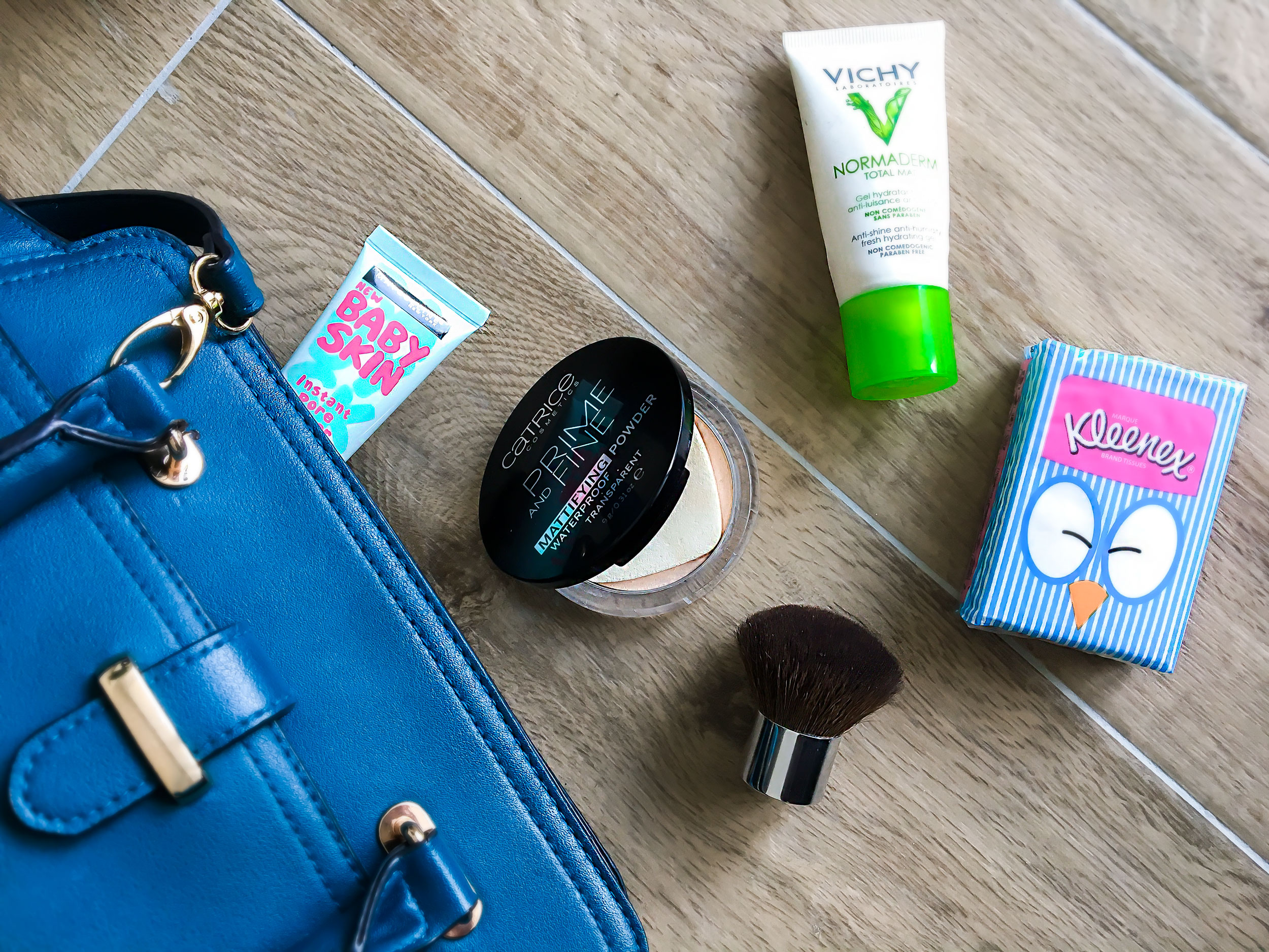 Mattifying makeup products in my bag