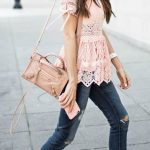 soft pink and cute lacey top