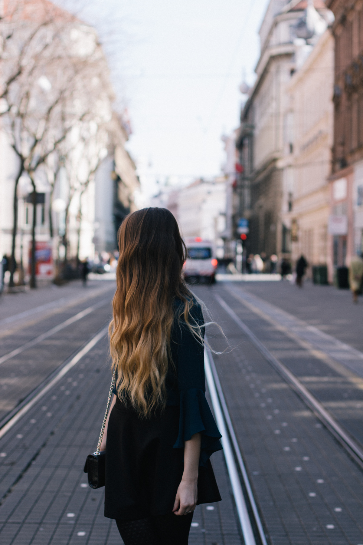 long hair on the street