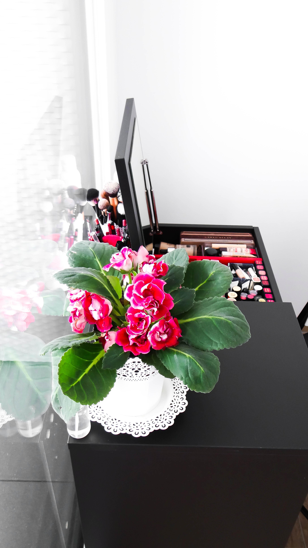 IKEA Brimnes vanity desk Cydonia open mirror