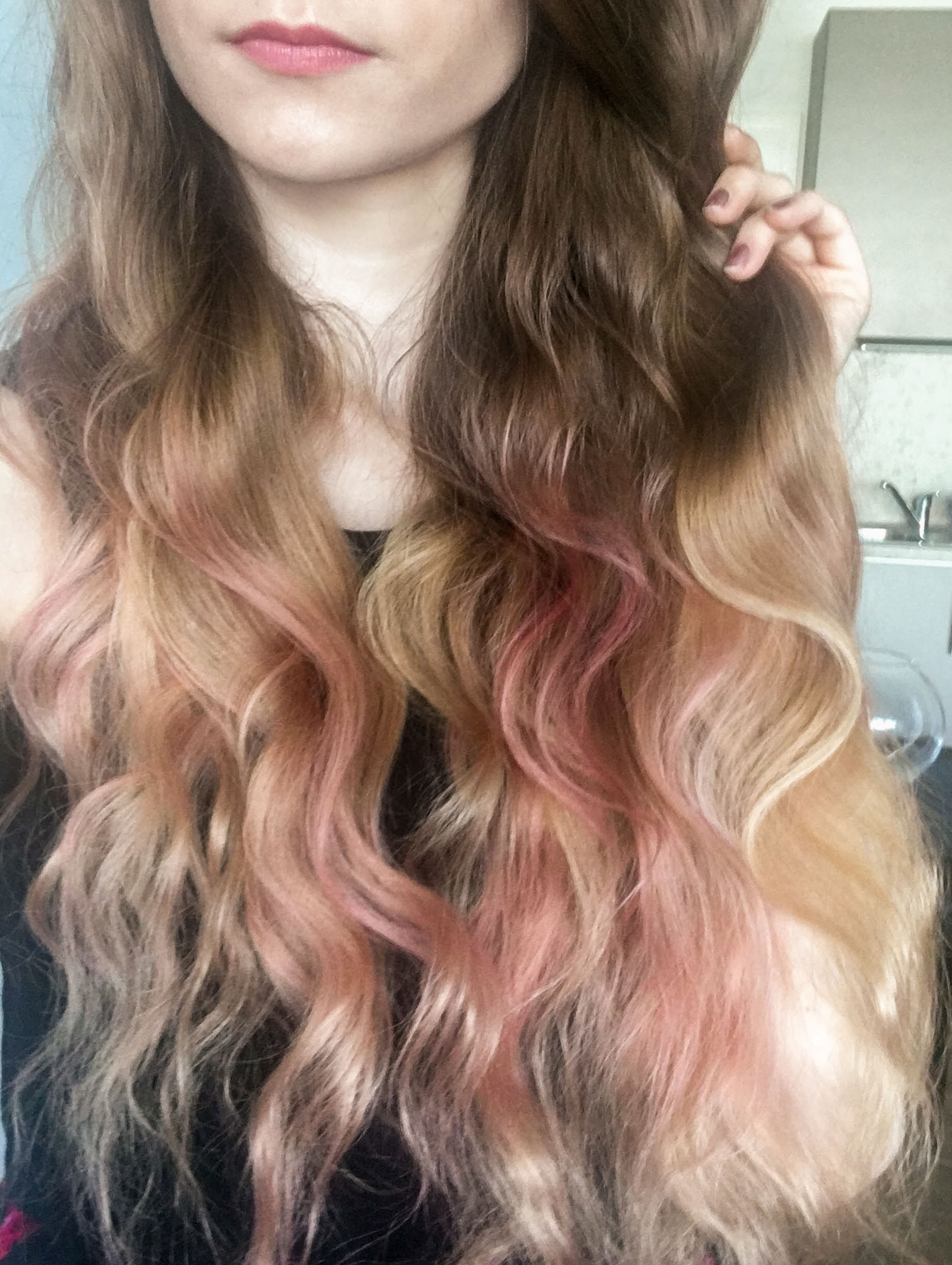 L'Oreal Colorista Washout Dirty Pink hair dye results on hair Cydonia